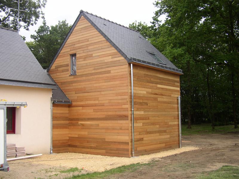 Extension avec terrasse sur lev e sign bois construction for Terrasse bois surelevee