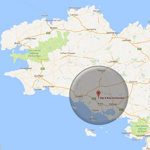 carte du pays d'Auray Sign&Bois Construction