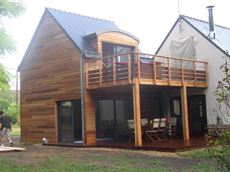 souvent Extension avec terrasse surélevée - Sign&Bois Construction WB61